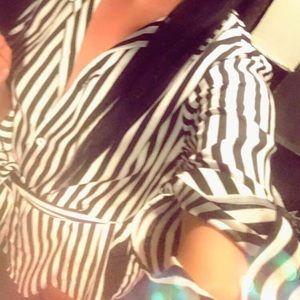 Black and white dress shirt